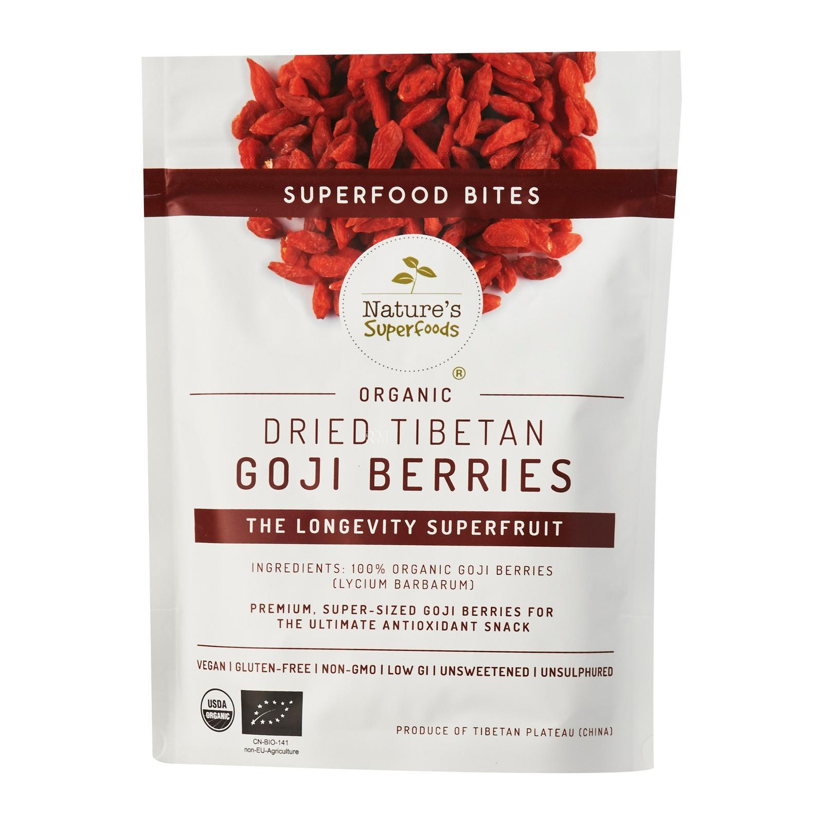 Nature's Superfoods Organic Bites - Tibetan Goji Berries