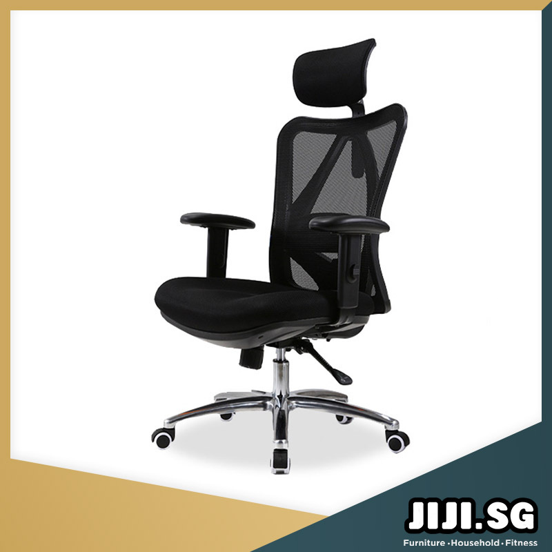 (Delivered in 3 Days)(JIJI SG) ASAMI Office Chair - Available in Black - (Home Office Chair) Office chairs /Study chair/Gaming chair/Ergonomic/ Free 12 Months Warranty (SG) Singapore