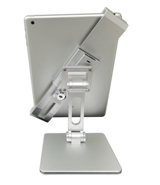 (31010Q)SGstock Tablet stand tabletop free standing 180 swivel rotate anti theft keylock