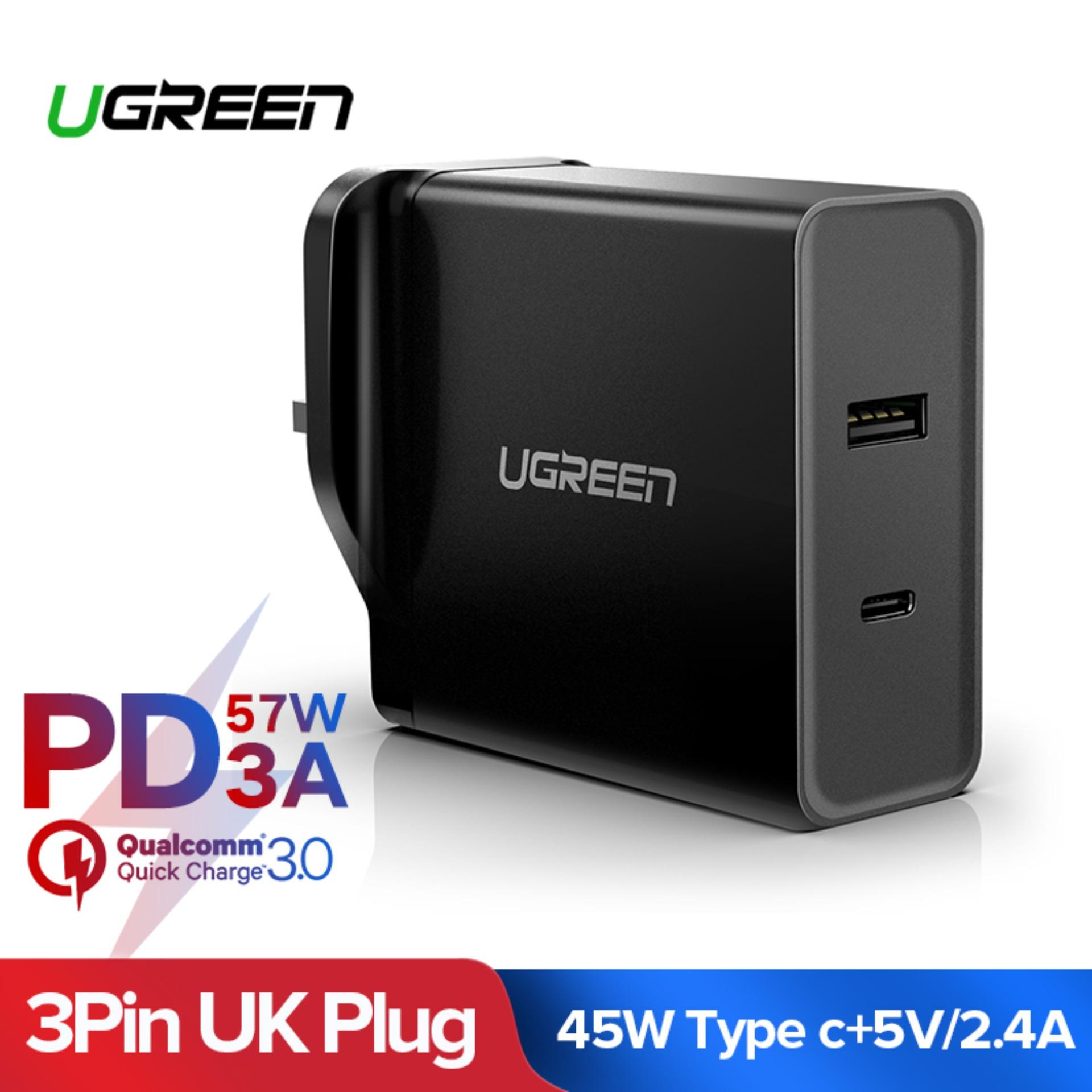 Ugreen Usb C Pd Charger, 45w Usb C Wall Charger With 5v 2.4a Usb Charging Port For Nintendo Switch/macbook/iphone X/samsung Note 9/google Pixel/hp Envy Etc By Ugreen Flagship Store.