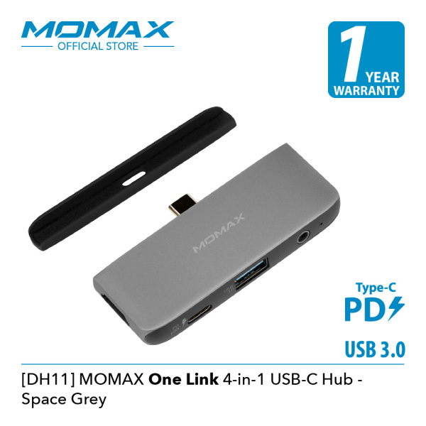 Momax [DH11E] Onelink 4 in 1 USB-C Hub