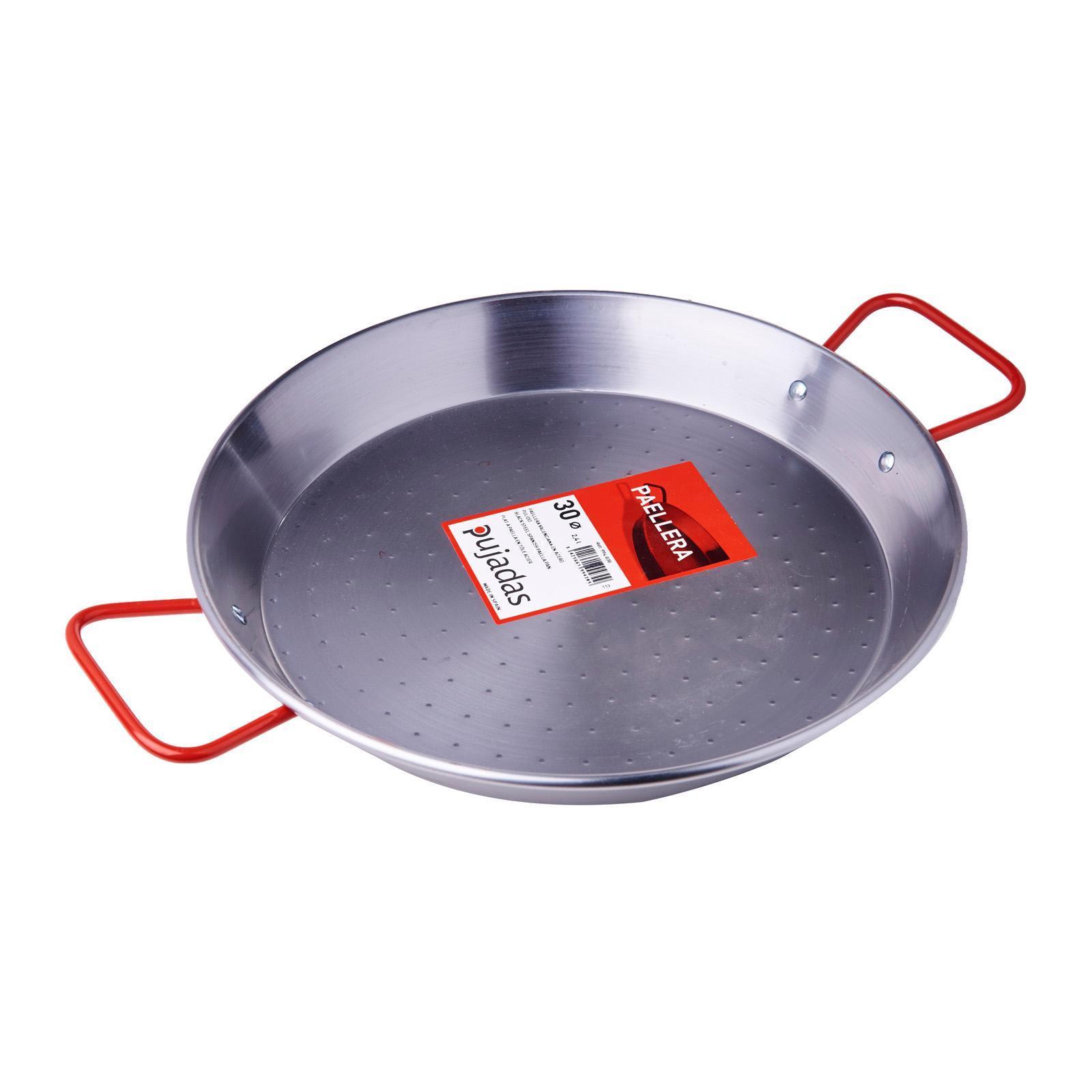 Pujadas Black Steel Paella Pan 30Cm