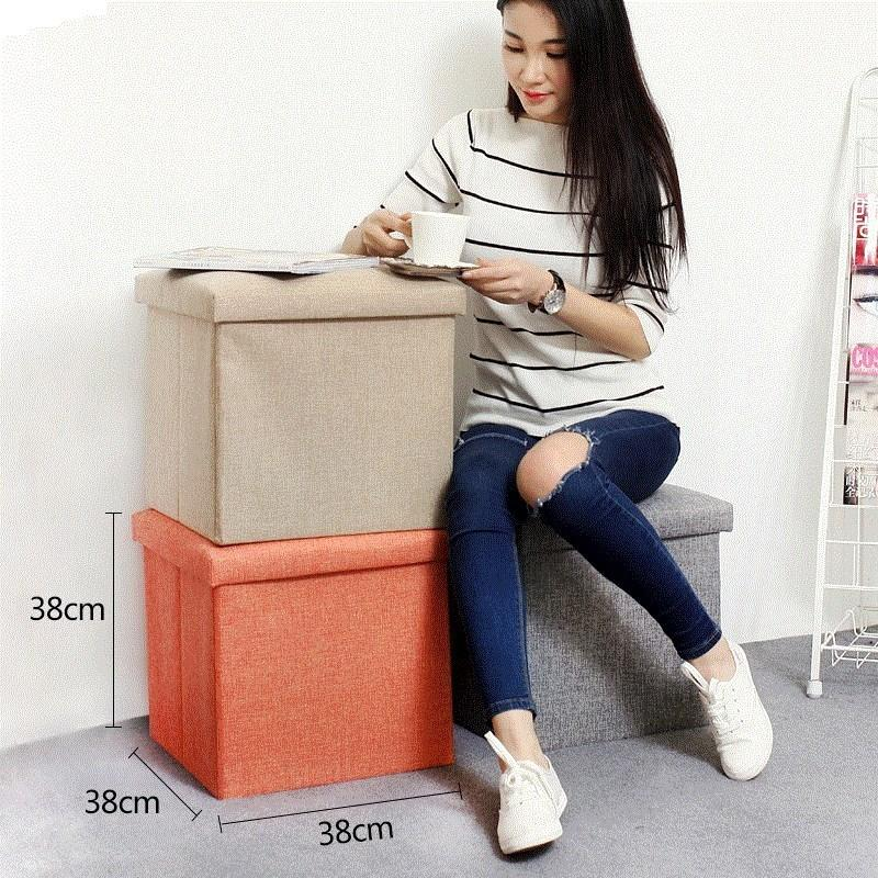 Family Storage Tank Multi-functional Stool Storage Chair Storage Stool Vehicle with Lid Bjd SD Space Storage Box Small