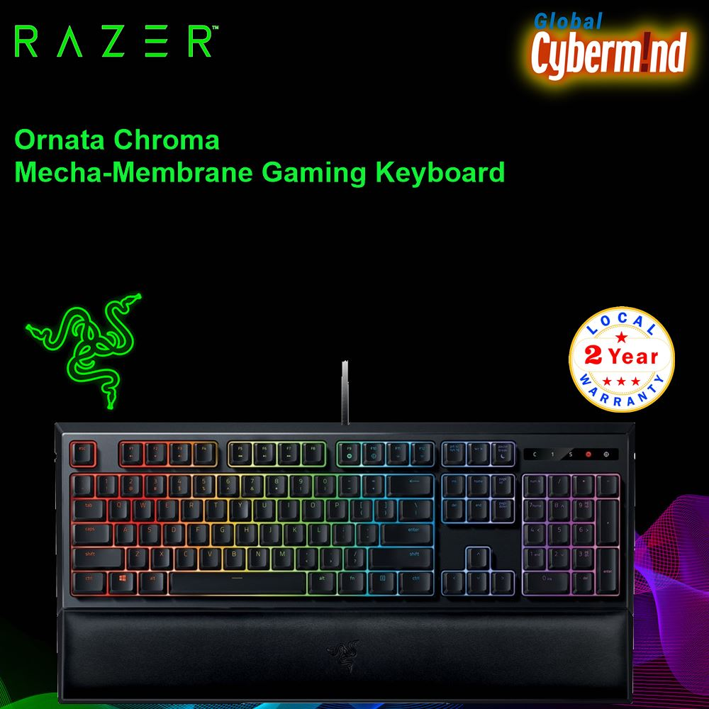 Razer Ornata Chroma Mecha-Membrane Gaming Keyboard ( Brought to you by Cybermind ) Singapore