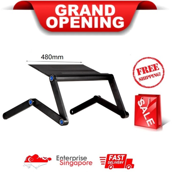 ★ 480 x 263 mm Foldable Laptop Table, 360°Adjustable Office Stand-up Stand, Adjustable Reading Holder, Ergonomic Laptop Bed Desk, Couch Desk, Portable Notebook Workstation Sofa Lap Tray Stand ★ SG Ready Stock ★