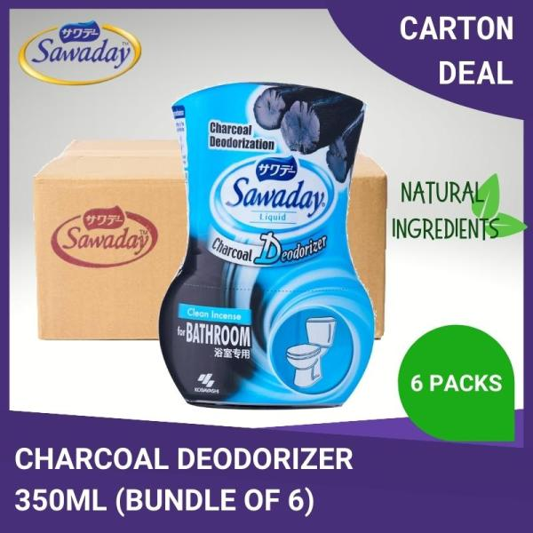 Buy [Carton Deal] Sawaday Charcoal Deodorizer Clean Incense For Bathroom Odor 350ml [Aurigamart Authorized Distributor] Singapore