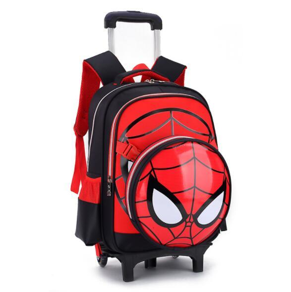C10Children Trolley School Bag Student Removable Backpack CT