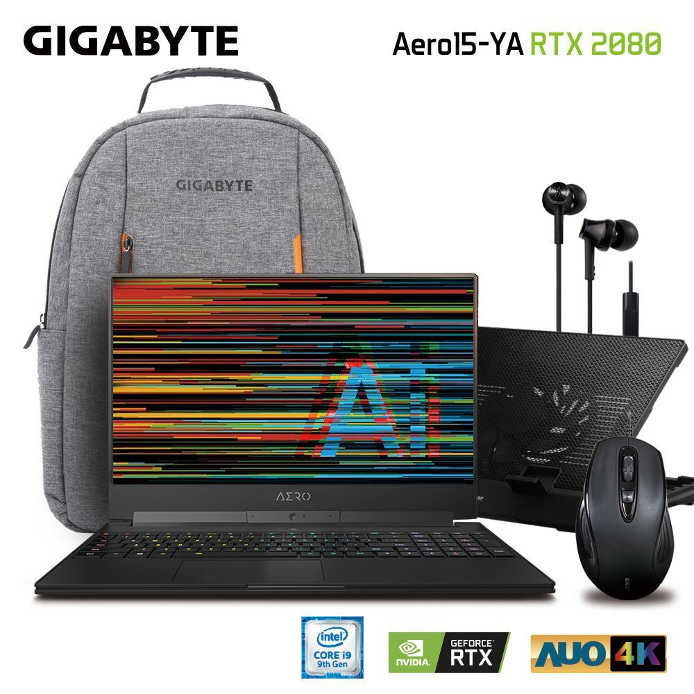 GIGABYTE AERO 15 Classic-YA UHD (i9-9980HK/64GB SAMSUNG DDR4 2666 (32GB*2)/GeForce RTX 2080 GDDR6 8GB Max-Q/2TB INTEL 760P PCIE SSD/15.6 Thin Bezel AUO UHD Adobe RGB 100% 3840x2160 IPS Anti-Glare Display LCD/WINDOWS 10 PROFESSIONAL) [Ships 2-3 days]