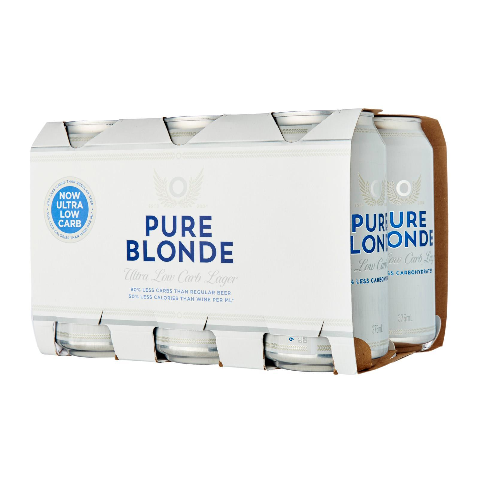 Pure Blonde Premium Beer - 6 x 375ml cans