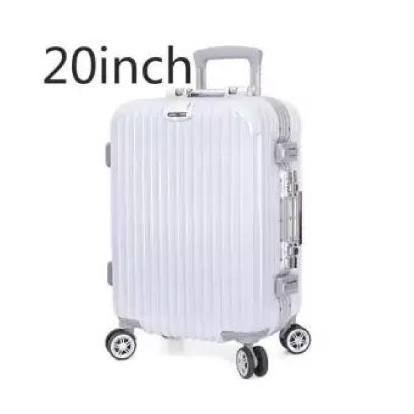 20INHCES New net color aluminum alloy angle arc frame trolley case Mute universal wheel scratchproof customs lock travel luggage-intl