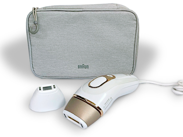 Buy Braun IPL Silk·expert Pro 5 PL5117 Latest Generation IPL 400,000 flashes, Permanent Visible Hair Removal, White and Gold, with Premium Pouch, Venus razor and Precision Head Singapore