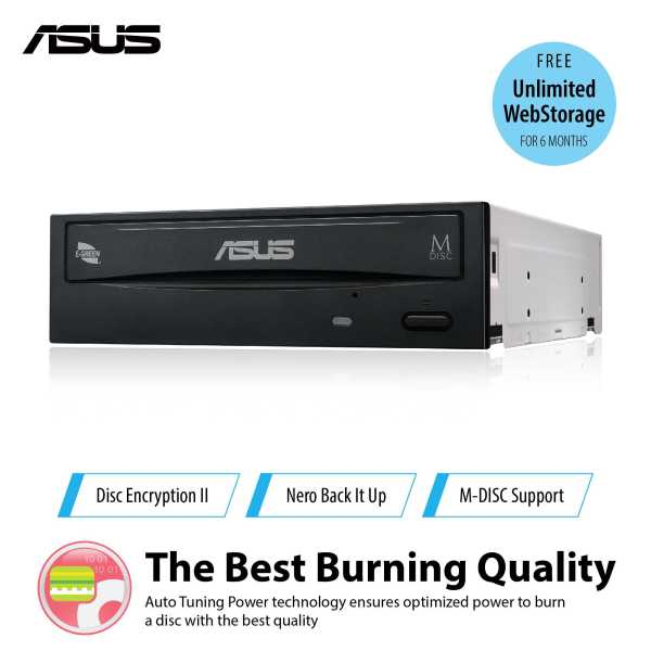 ASUS DRW-24D5MT - internal 24X DVD burner with M-DISC support for lifetime data backup