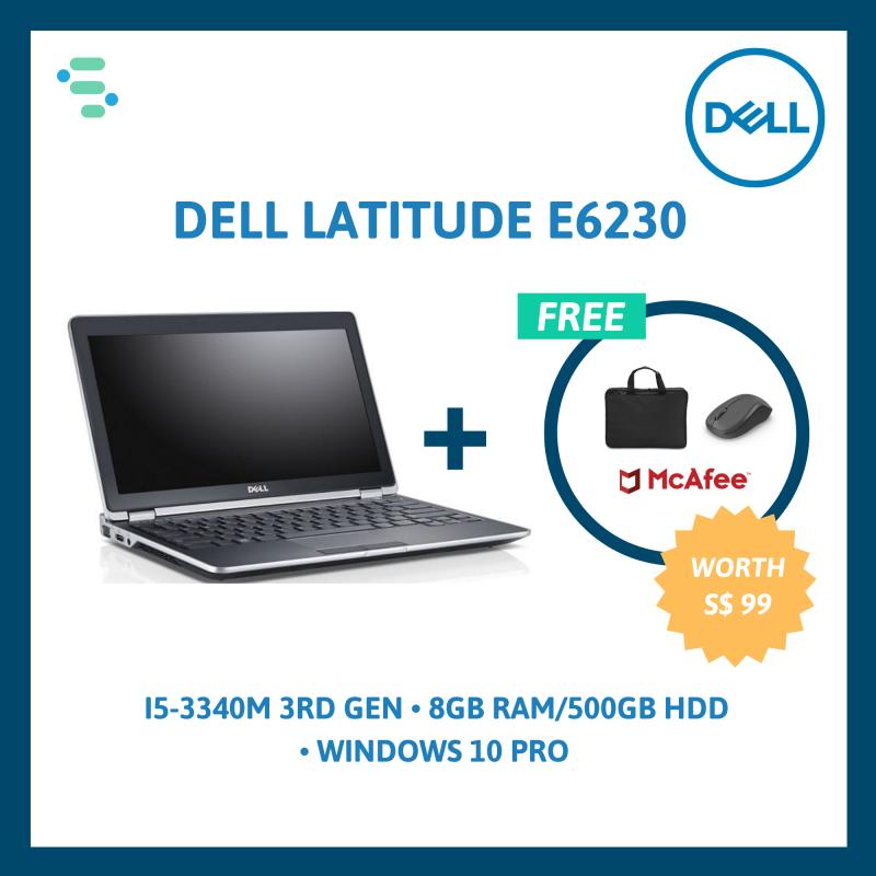 (Refurbished) Dell Latitude E6230   12.5   Intel Core i5-3340M 3rd Gen   8GB Ram   500GB / 256GB SSD   FREE Laptop Bag + Wireless Mouse + Anti-Virus