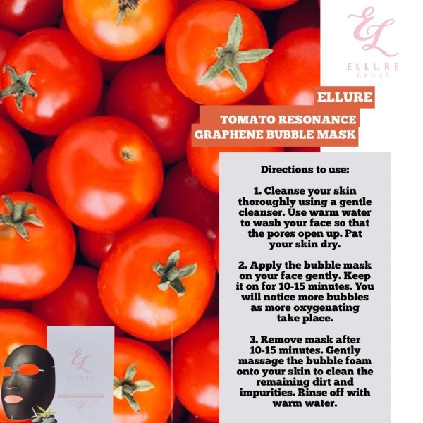 Buy Ellure Tomato Bubble Mask Singapore
