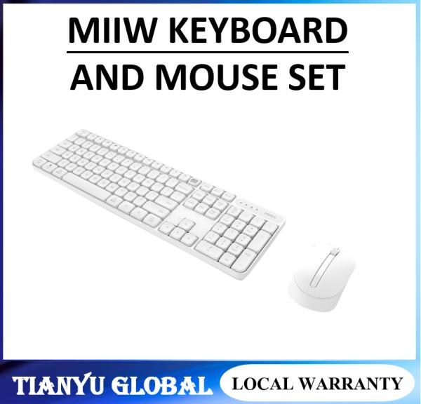 Original Xiaomi MIIIW RF 2.4GHz Wireless Office Keyboard Mouse Set 104 Keys For Windows PC Mac Compatible Portable USB Keyboard