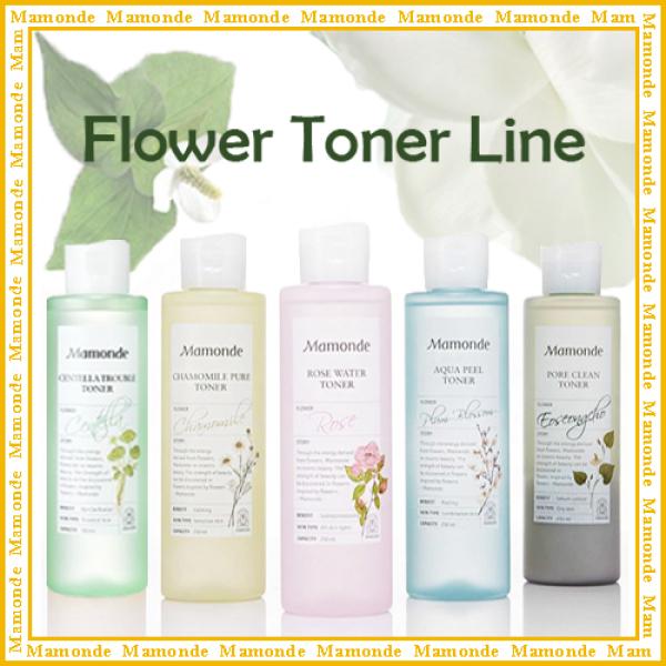 Buy [ Mamonde ] Toner Line / Chamomile Pure Toner / Rose Water Toner / Pore Clean Toner / Centella Trouble Toner / Aqua Peel Toner Singapore