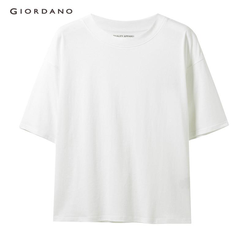 cd5bf218 Giordano Women T Shirt 100% Cotton Loose Short Sleeve Women's T-Shirt Solid  Casual