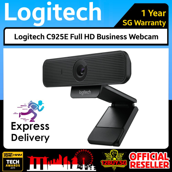 Logitech C925e 1080p HD Webcam for HD Video Streaming & Business Webcam 3PM.SG 12BUY.SG 1 Year SG Warranty Express Door Delivery 3 to 7 Days