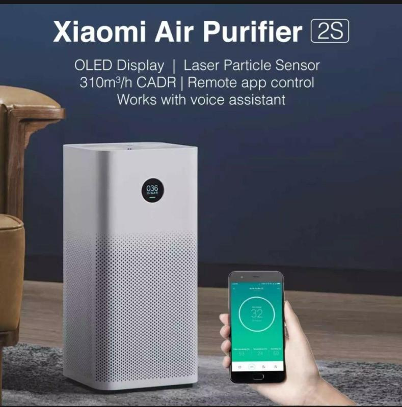 [Local Warranty]★ XIAOMI Air Purifier 2S OLED Screen Display Control by SmartPhone App Singapore