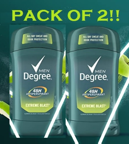 Buy Degree Men Dry Protection Antiperspirant Deodorant, Extreme Blast 2.7 oz, (Pack of 2) Singapore