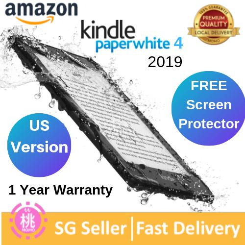 KINDLE Paperwhite 2019 10th Gen US Version, FREE Screen Protector 8/32GB  ,Wi-Fi Only, With Adv (Water-safe Fabric Magnetic Smart Case options