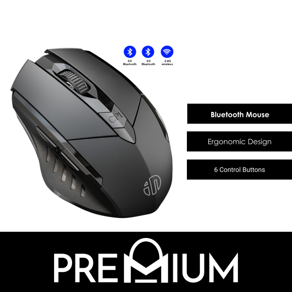 INPHIC Wireless Mouse MP6 keys Compatible with Laptops Desktop Computer