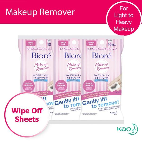 Buy Biore Cleansing Oil Cotton Facial Sheets (Moist & Hydrating) Handy Pack 10s x3 Singapore