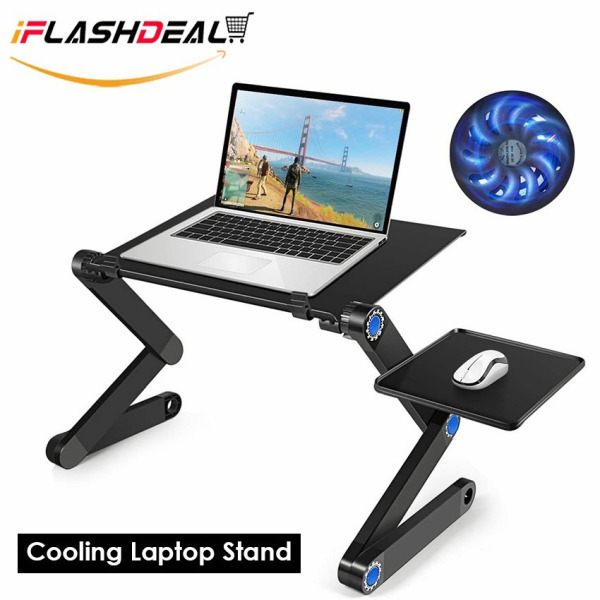 iFlashDeal Laptop Stand Cooling Portable Detachable Adjustable Foldable Holder 360° Rotating Laptop Cooling Pad Bracket for Laptop, iPad, Tablet  15.6inches
