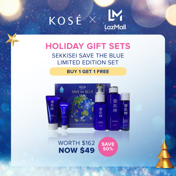 Buy [12.12 Exclusive] (35th Anniversary) Kose Sekkisei Save the Blue Limited Edition Set Singapore
