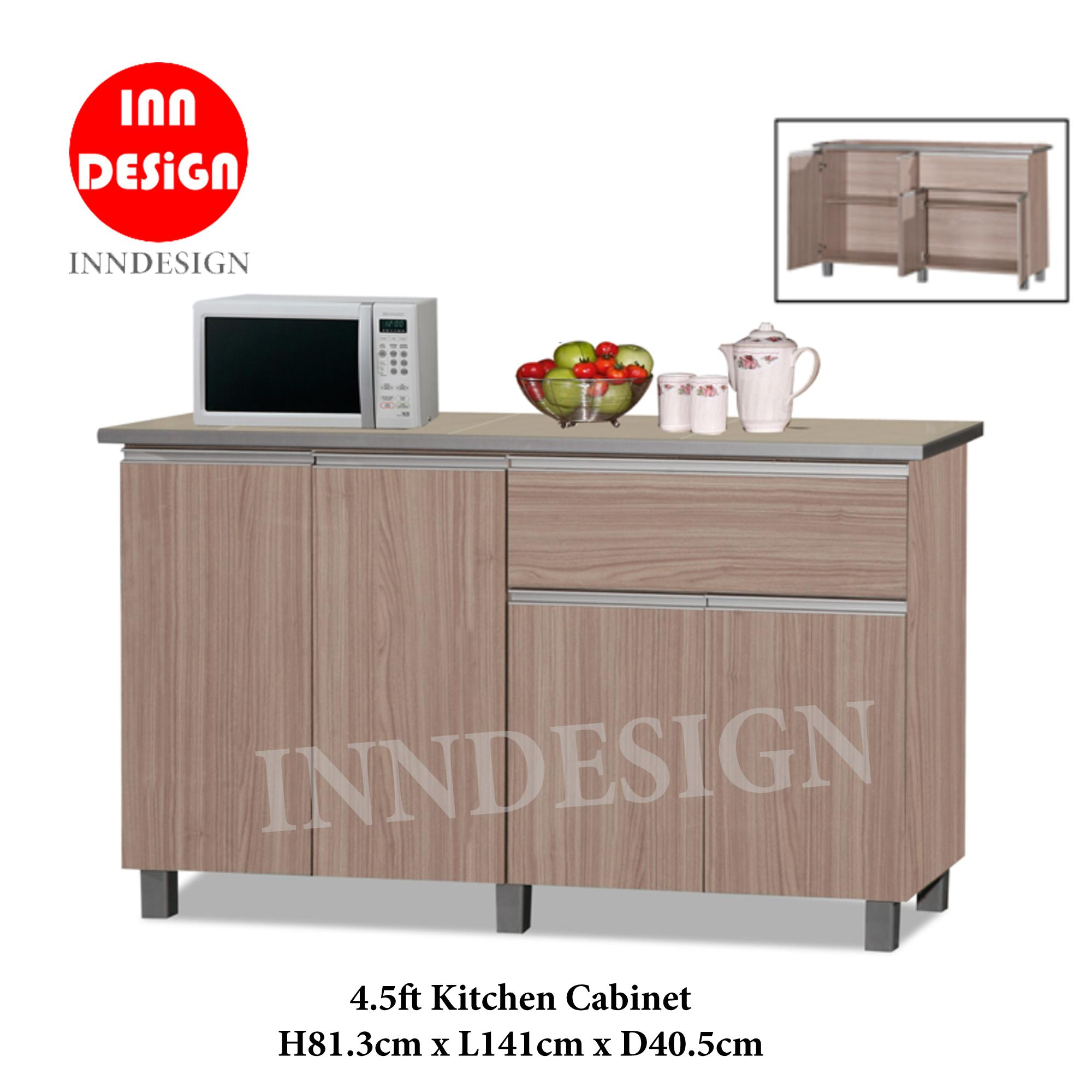 KINNO 4.5ft Kitchen Cabinet With Tiles Top and Drawer (Free Delivery and Installation)