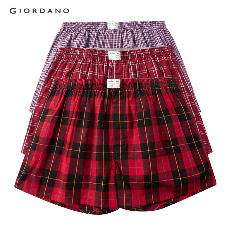 189c7a632a4 [3 PACKS] Giordano Men Underwear Boxer 3-Pack Boxers Men Multicolor Basic  Underwear