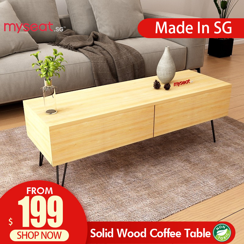 MYSEAT.sg DUNCAN  Solid Wood Coffee Table