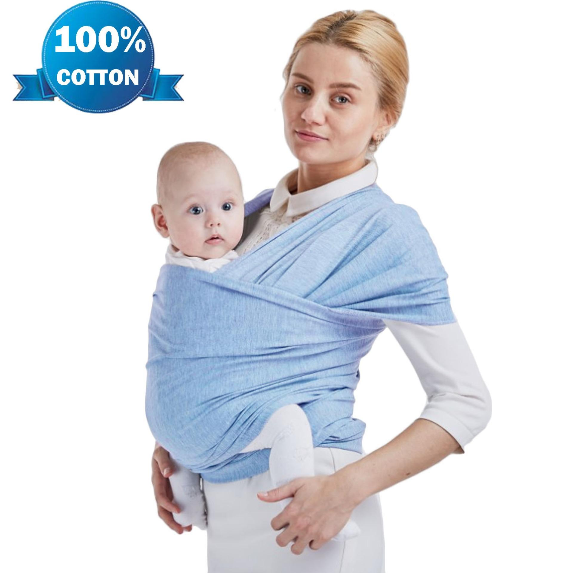 Soft Cotton Adjustable Baby Sling Wrap Cover Carrier For Infants Up To 20kg By Duha.