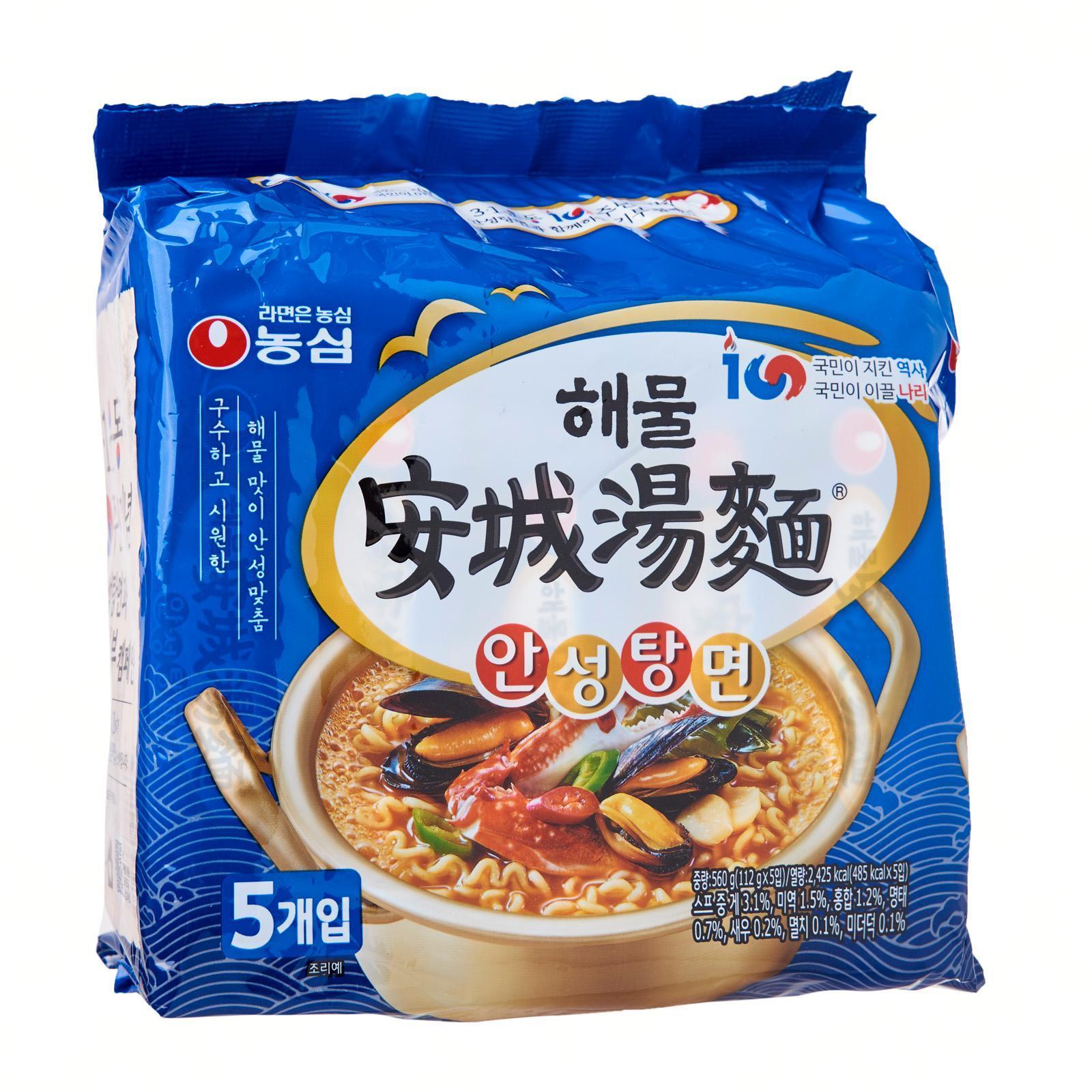 Nongshim Korean Ansungtangmyun Seafood Ramen Noodles 5S