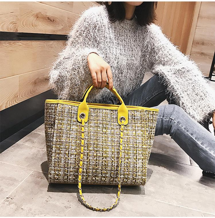 Chain Big Book Bags Female 2019 New Style Mommy Bag Large Capacity Shoulder Bag Cross-body Fashion Simple Fitness Handbag