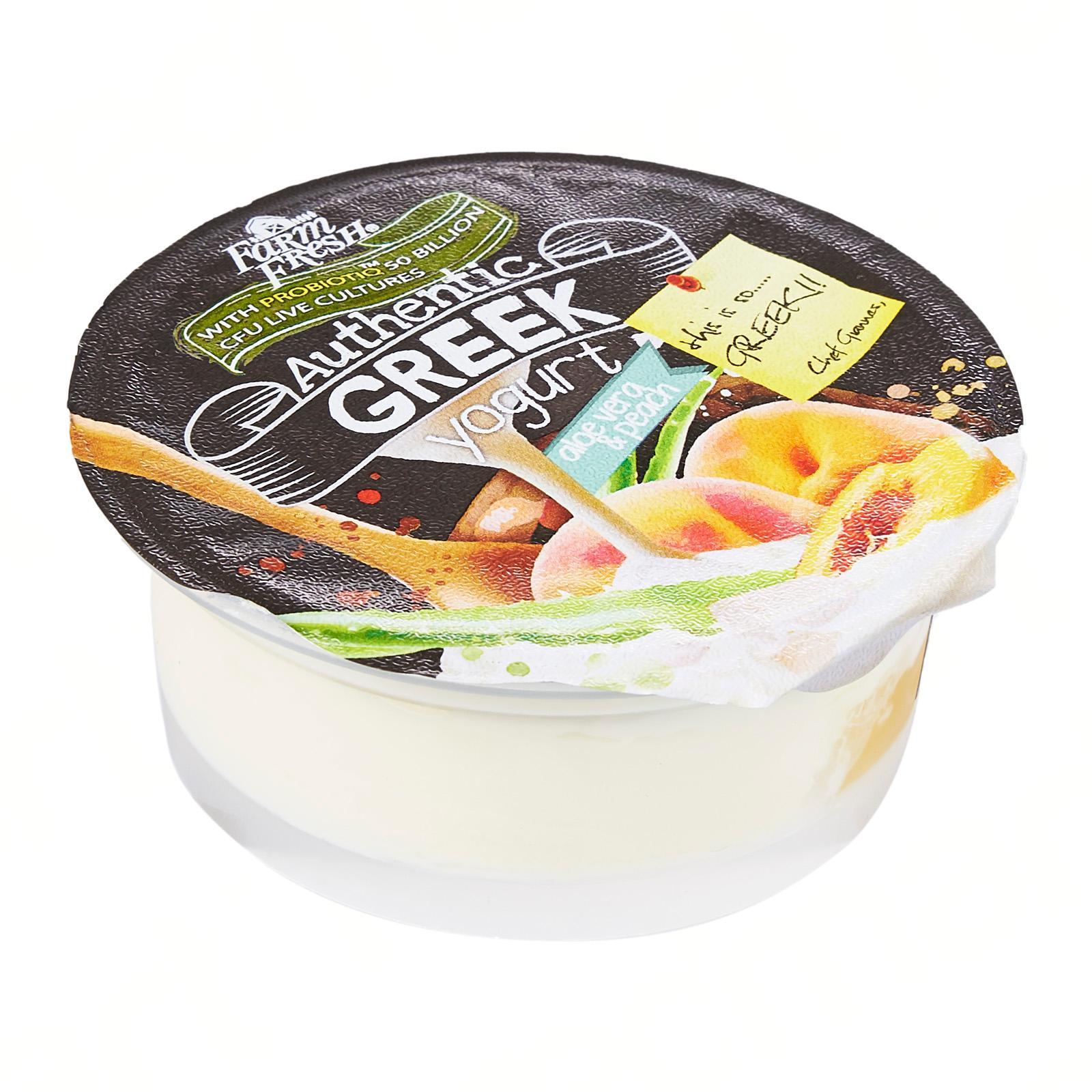 Farm Fresh Greek Yogurt Aloe Vera and Peach 120g