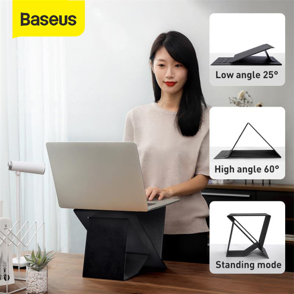 Baseus Silm Folding Laptop Stand Ultra High Computer Laptop Holder For MacBook Air Pro Notebook Portable Magnetic Laptop Stand For Home Office