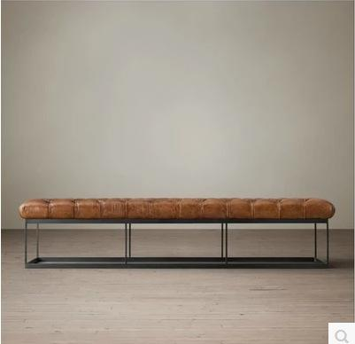 American Village Living Room Sofa Bench Loft Industrial Wind Iron Art Footstool Bed End Stool Leisure Bench