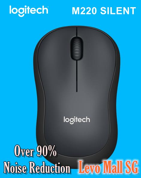 [FLASH SALE] Logitech M220 Silent Wireless Mobile Mouse - Charcoal (Limited Stock!)