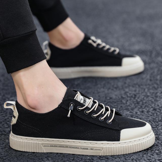 Giày Nam Giày Vải Bố Thường Ngày Xỏ Chân Cho Nam Mùa Xuân Mẫu Mới 2021 Giày Sành Điệu Mùa Hè Lười Dễ Phối Trào Lưu Phong Cách Hàn Quốc giá rẻ