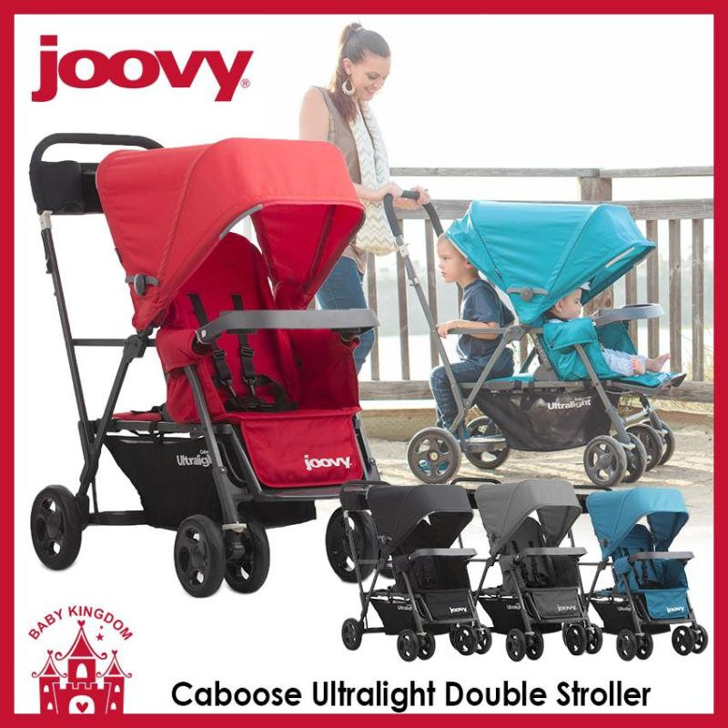 Joovy Caboose Ultralight Sit and Stand Stroller Tandem Double Stroller Singapore