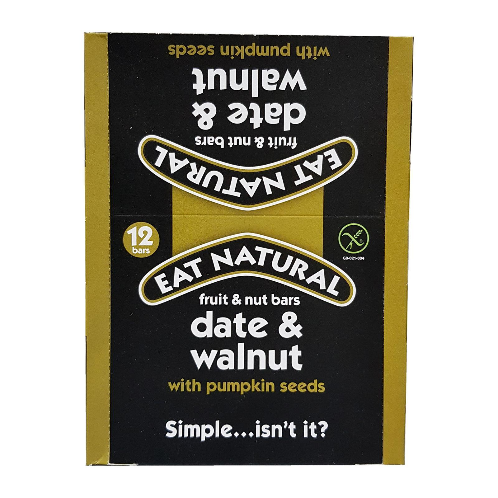 Eat Natural Dates Walnut And Pumpkin Seed Bar - By Wholesome Harvest