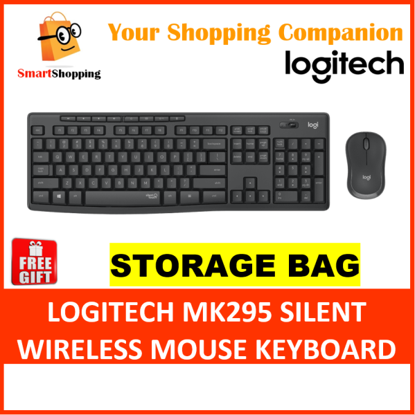 Logitech MK295 Silent Wireless Combo Comfort Compact Mouse Full Size Keyboard Win Chrome 2 Yrs Warranty 920-009814 Singapore