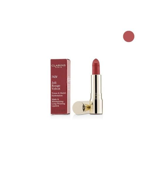 Buy Clarins Joli Rouge Velvet Matte & Moisturizing Long-Wearing Lipstick -742V Joli Rouge Velvet (3.5g) Singapore