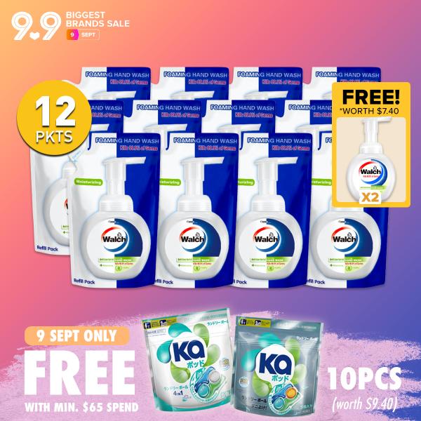 Buy Walch Antibacterial Foaming Handwash 300ml x 12 Refills + FREE 2 bottles / 300ml x 6 Refills + Free 1 Bottle Singapore