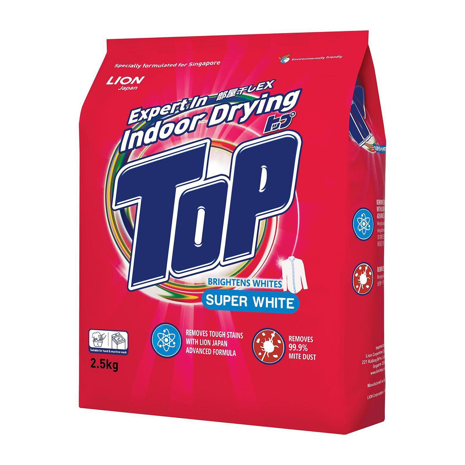 TOP Powder Detergent - Super White 2.5kg