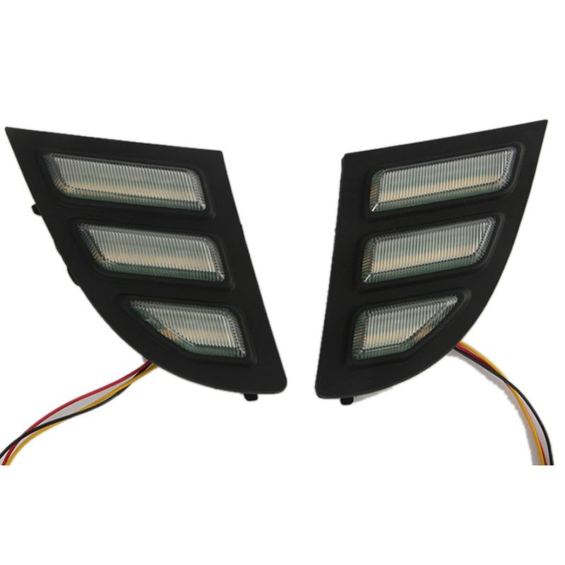 Car Flashing 2PCS LED DRL Daytime Running Light with Turn Signal for Buick Regal GS Opel Insignia 2010-2015