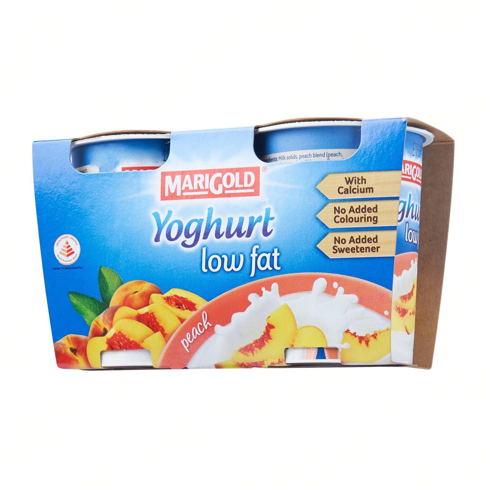 MARIGOLD Low Fat Cup Yoghurt - Peach