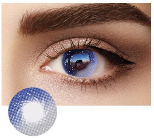 Buy 4 Tone Series Color Eye Contact Lenses, 2pcs/pair STYLE: GALAXY EYES Singapore