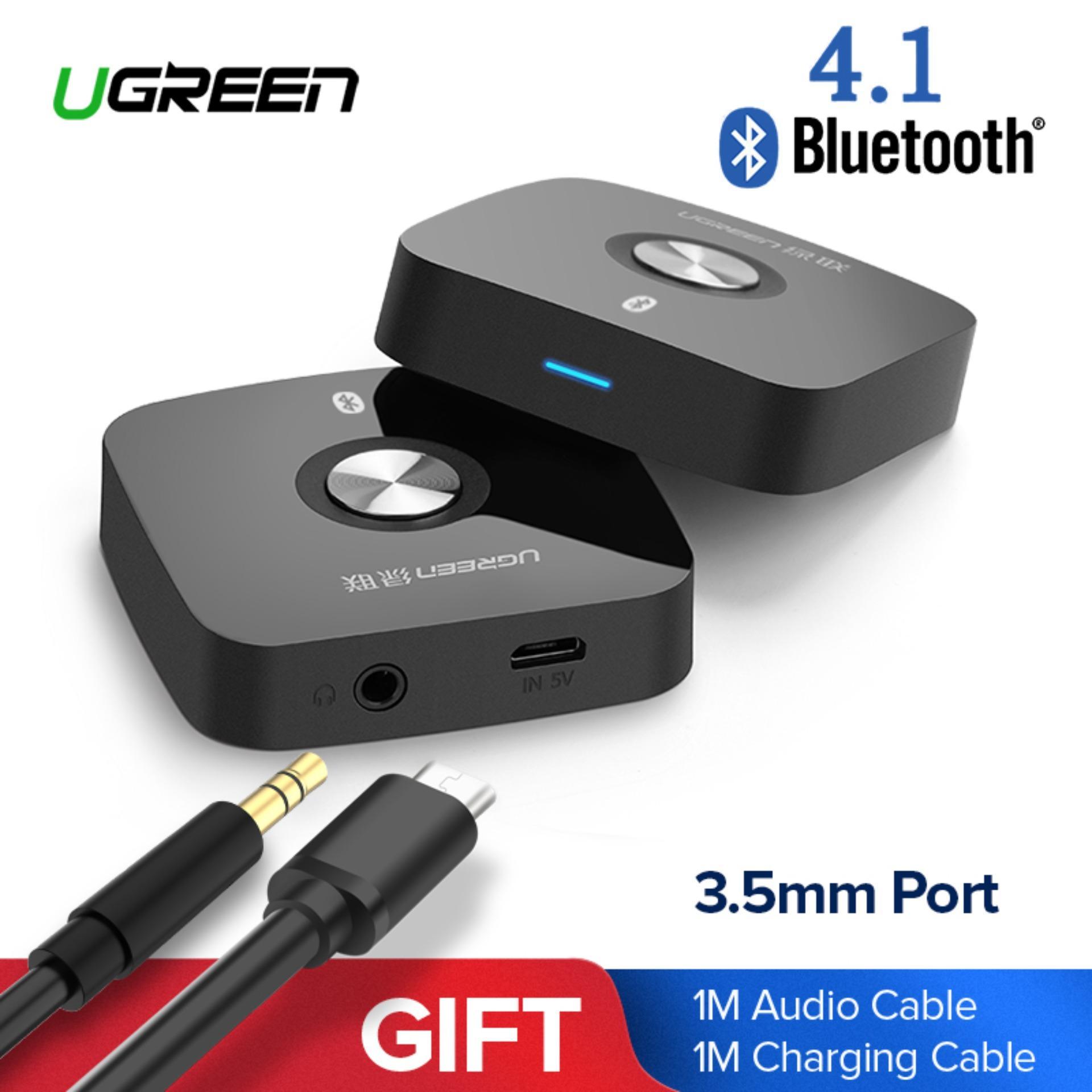 UGREEN Mini Bluetooh 4.1 Audio Receiver Wireless Adapter for Home Audio Music Car Speakerphone